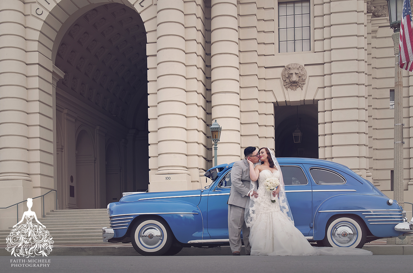 St. Elizabeth's Church Pasadena City Hall wedding photographer