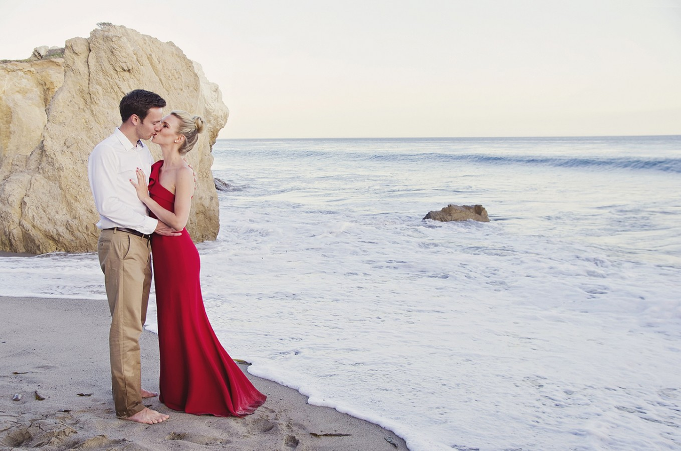 Leslie Jamie At El Matador Beach Malibu Elopement Wedding Photographer