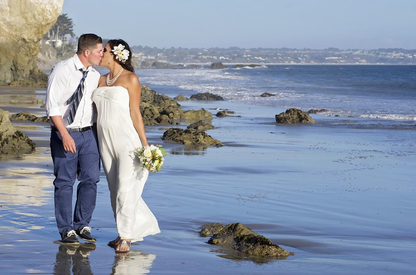 Albertson Wedding Chapel Beach In Los Angeles By