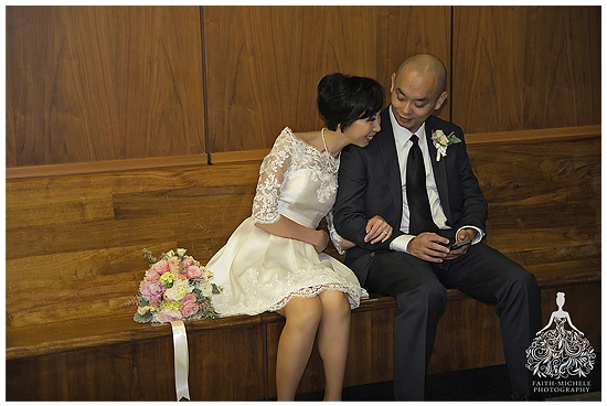 Mimi and Chris' romantic Beverly Hills Courthouse wedding by LA's premier courthouse wedding photographer