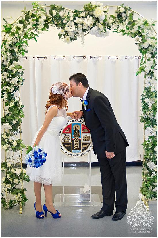 Beverly Hills Courthouse Wedding Photo